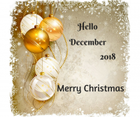 hello december 2018 happy christmas image