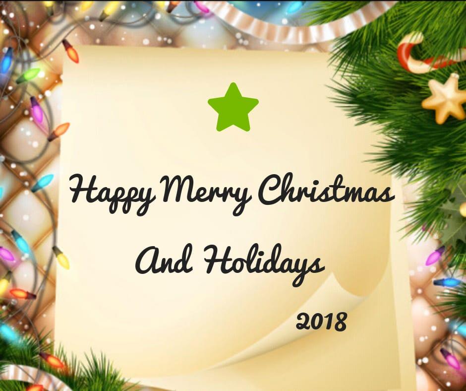 happy merry christmas 2018 image for whatsapp