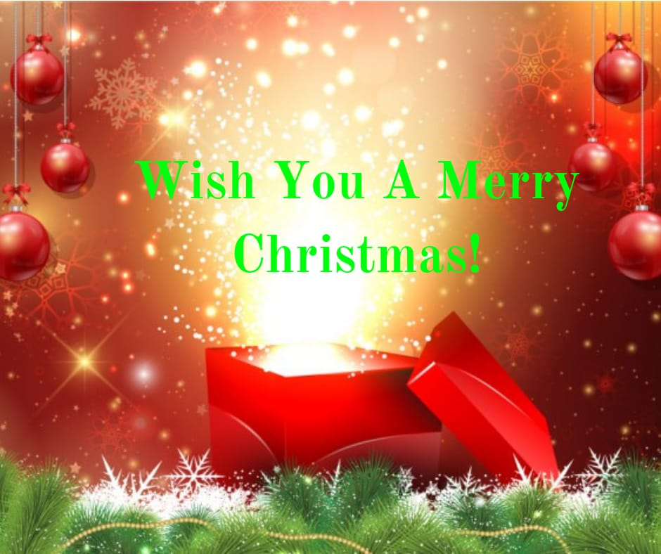 wish you a happy merry christmas image