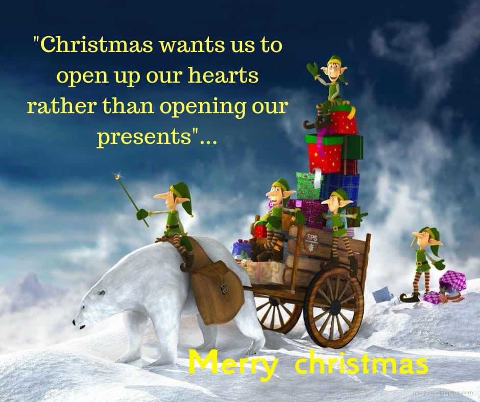Christmas wants us to open up our hearts image for facebook