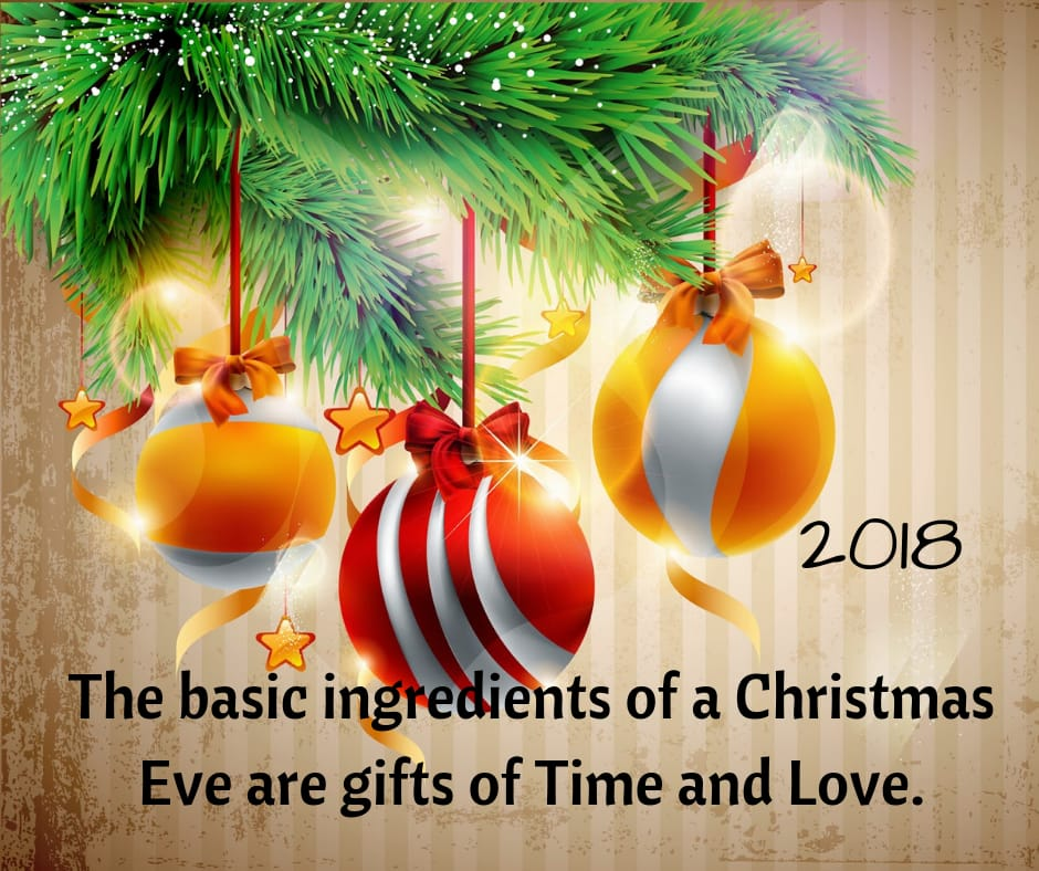 Time and love happy christmas 2018 image