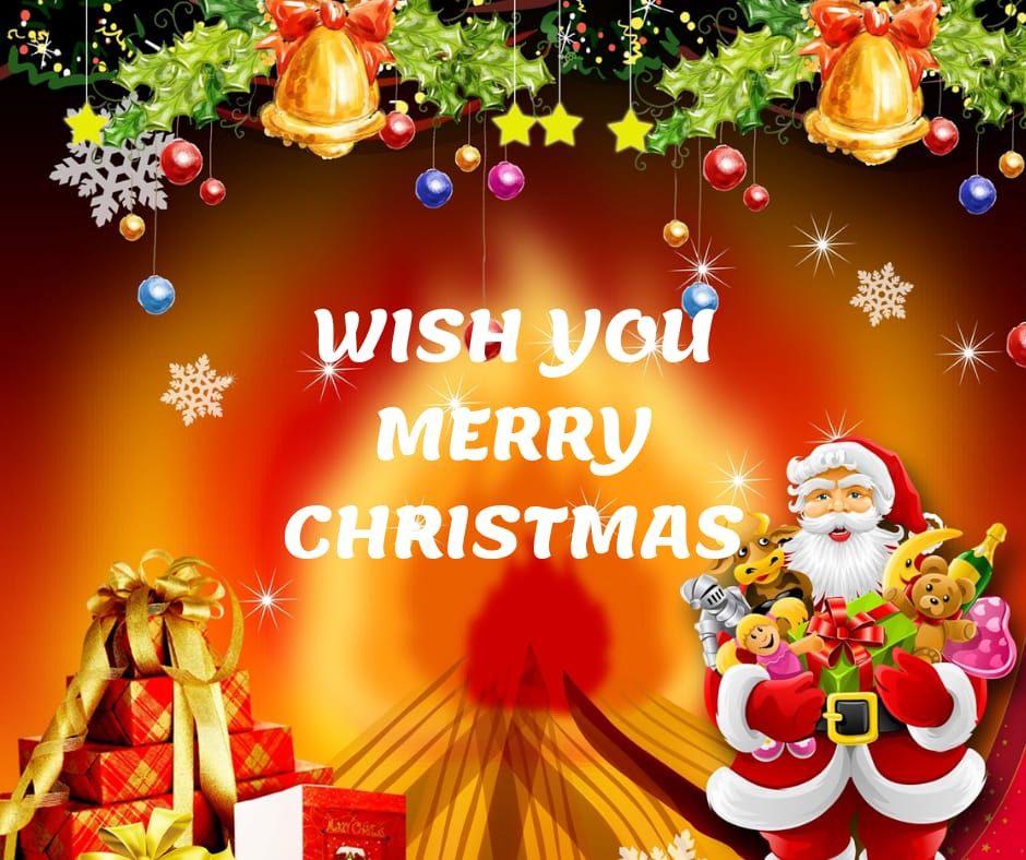 wish you a very happy merry christmas wishes image