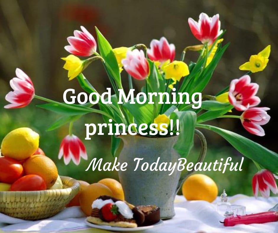 Good morning princess image free download