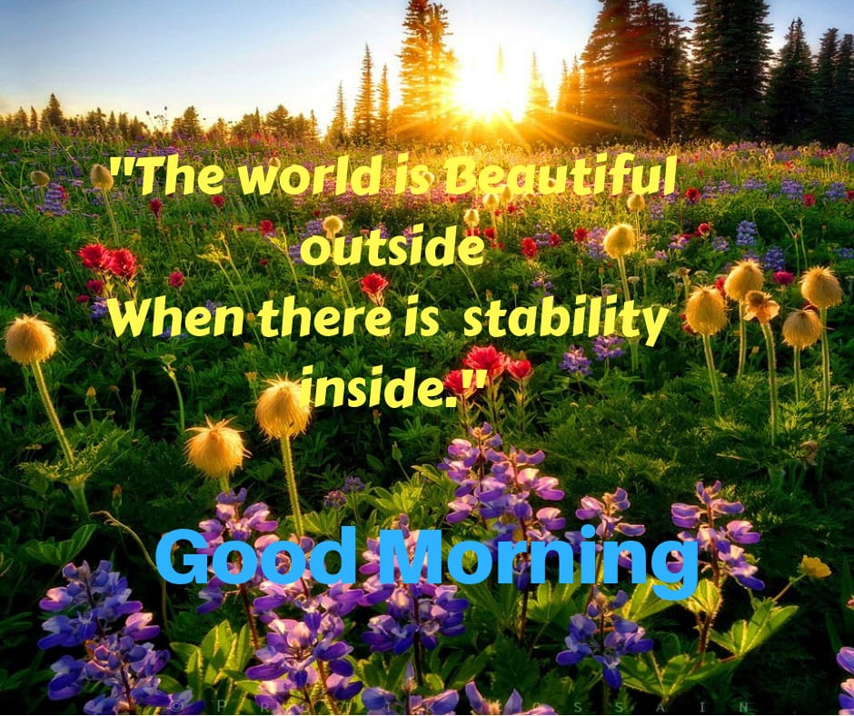 world is beautiful good morning for fb