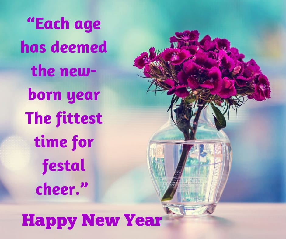 the new born year new year wishes image