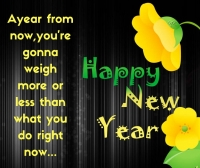 A year from now new year image