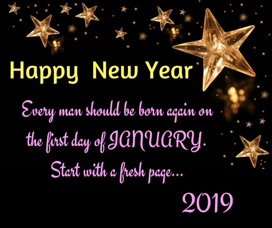 every man should be born again new year wishes image