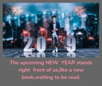 upcoming new year 2019 wishes image