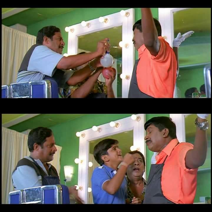 Vadivelu as Saloon Kada Shanmugam meme template