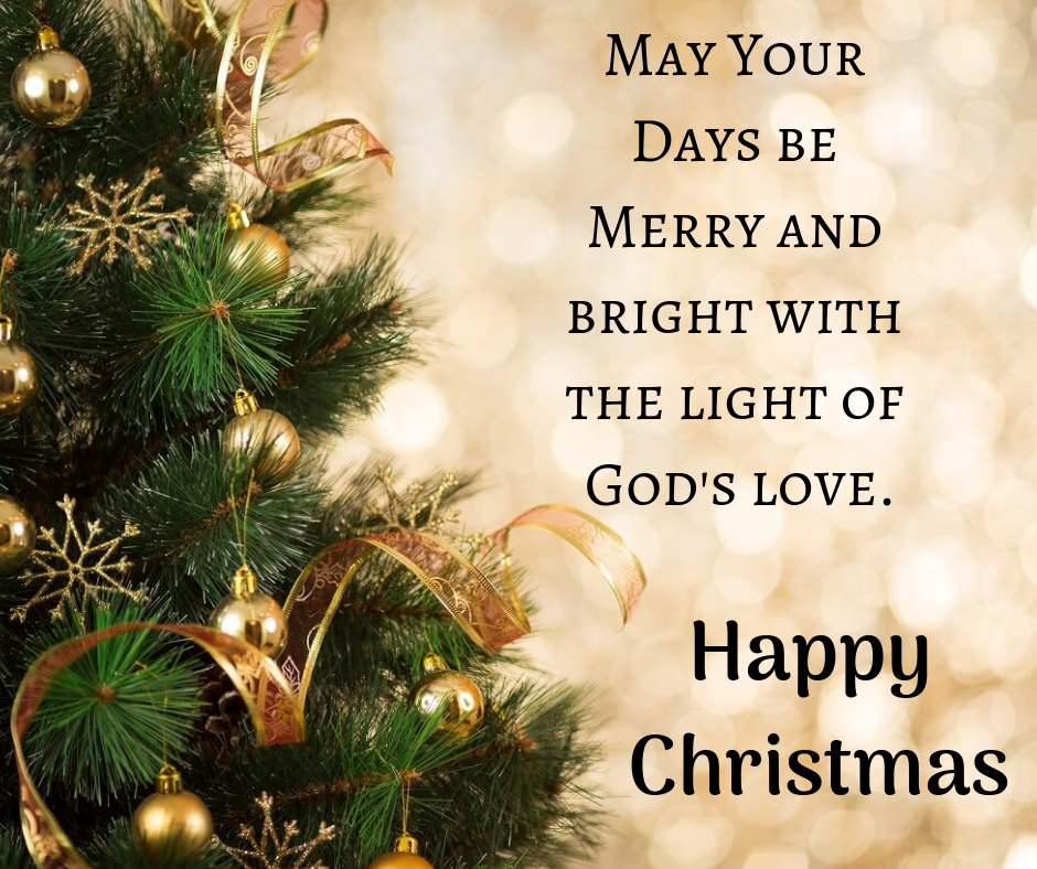 merry and bright with the light of god love image