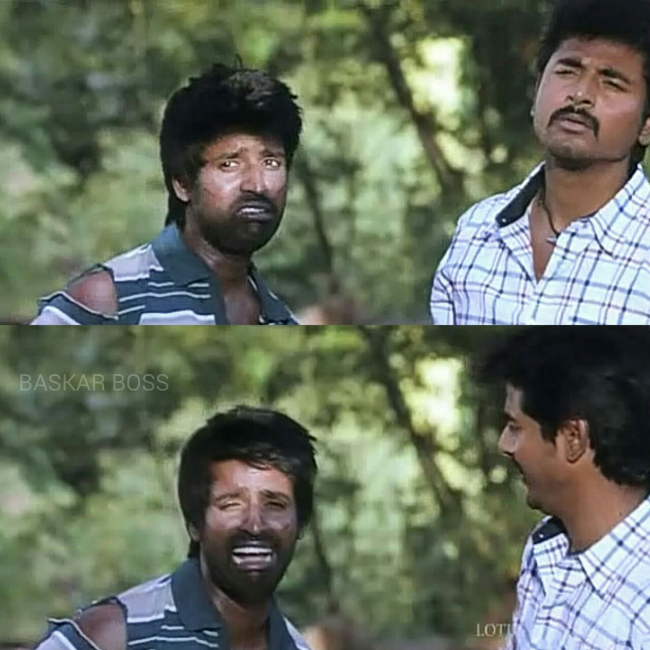 crying scene of soori for fb comments