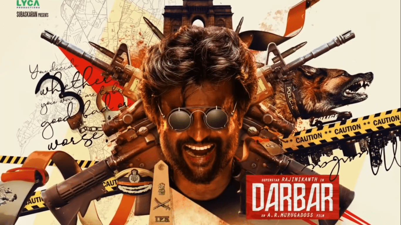 darbar meme template from first look of the movie
