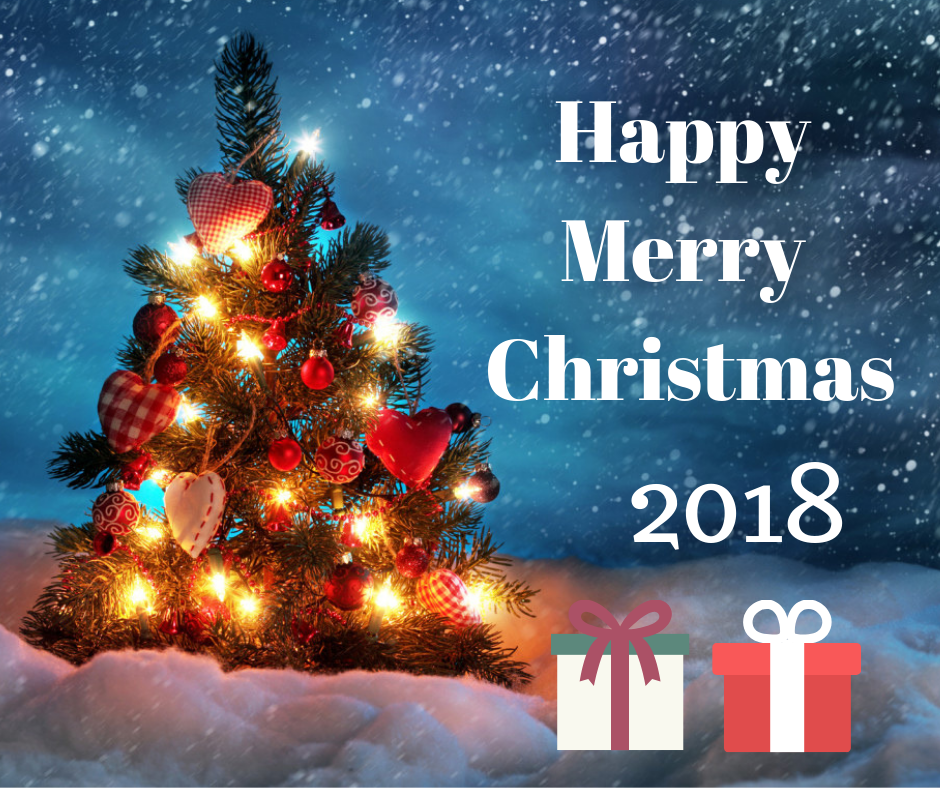 happy christmas 2018 image for facebook post