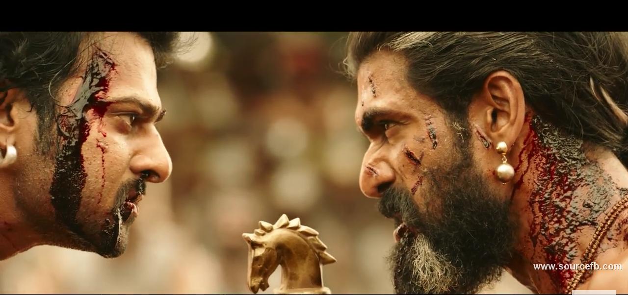 bahubali 2 prabhas and rana dagupathy fighting meme template